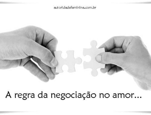 A regra da negociação no amor